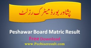check the Peshawar board Matric Result 2021