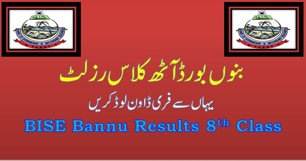 Bannu 8th Class Result Annual 2021
