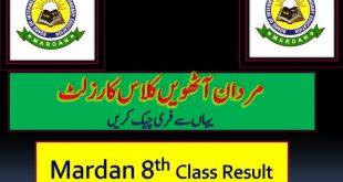 Gazette 8th Class Result 2020