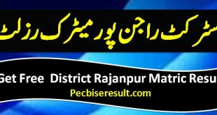 Rajanpur 10th Class Result