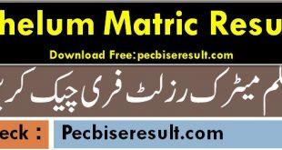 Bise Jhelum Matric Result 2020 Online