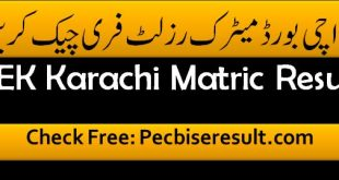 Karachi Board 10th Class Part 02 Result 2020