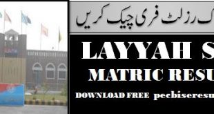 Board District Layyah Matric 2020