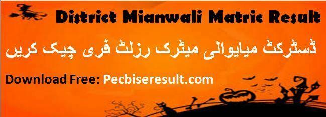 BISE Miabwali ten class result 2020
