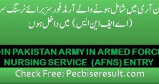Join Pak Army jobs online apply