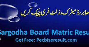 sargodha board ten class result 2020