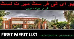 UET Merit List 2020 Sub Campuses
