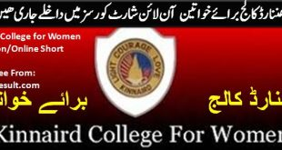 Kinnaird College/University Lahore Admission 2020