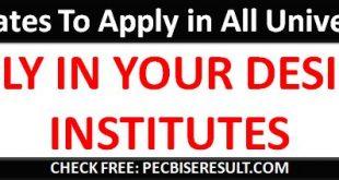 Apply in universities online