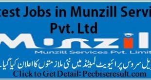 Latest Jobs in Munzill Service Pvt. Ltd 2020