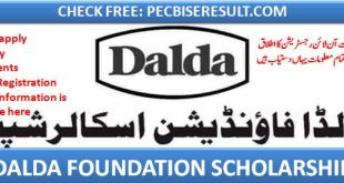 dalda foundation online application submission ONLINE