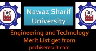 NSUET Merit List 2020