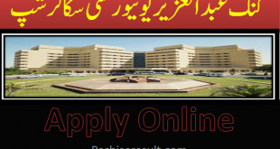 King Abdul Aziz University Scholarships 2020
