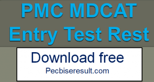 PMC MDCAT Result 2020