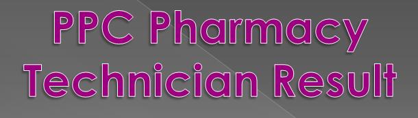 PPC Pharmacy Result 2020