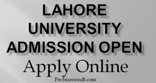 Lahore University Admission fall