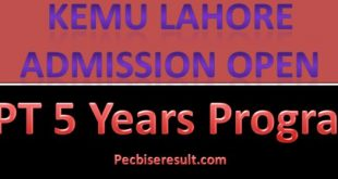 KEMU Admission in DPT