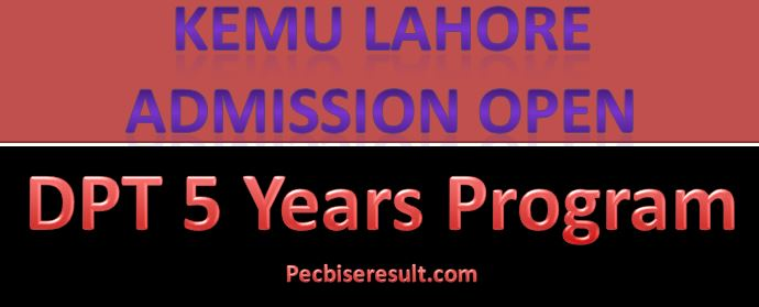 KEMU Admission in DPT