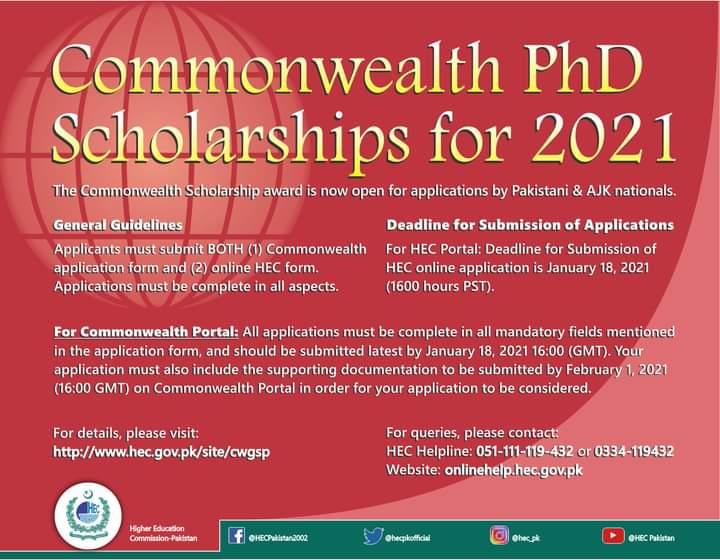 UK Scholarships 2020 for Pakistani and AJK National