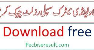 Rawalpindi Board matric Class Result 2020