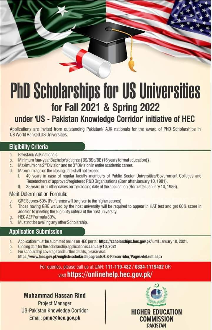 US PhD Scholarships 2021
