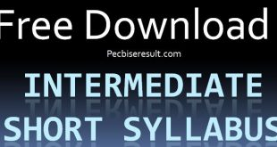 New FSC Short syllabus