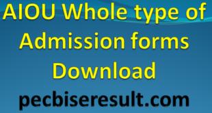 AIOU Online Admission Form Portal