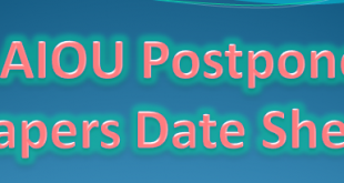 Postponed Examination of the AIOU 2021