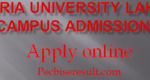 Bahria University Lahore campus Admissions 2021