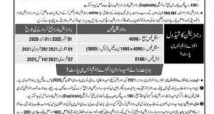 Punjab University Lahore BA MA MSC fee schedule2021