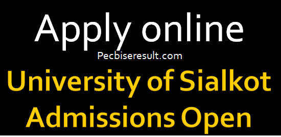 University of Sialkot Admissions are fall for the year of 2021