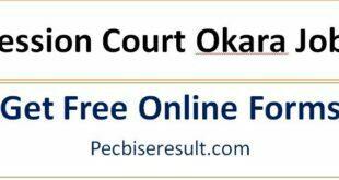 Okara District And Session Jobs 2021