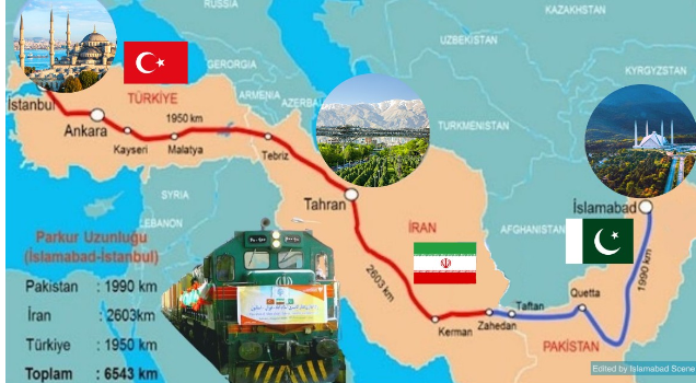 Pakistan to Turkey Train Rote Map