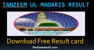Get Annual Result card of Tanzeem Ul Madaris 2021