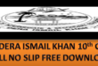 Free download BISE DIK Matric Roll No Slip 2021