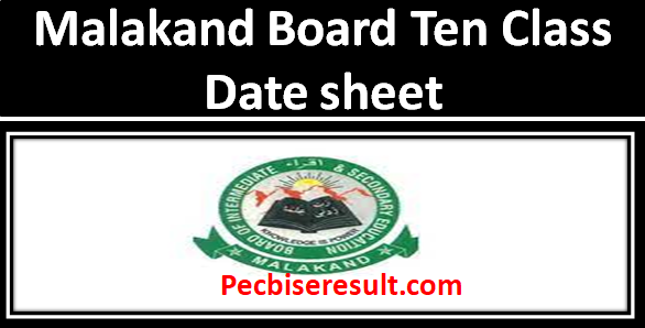 BISE Malakand Board date sheet of Matric 2021