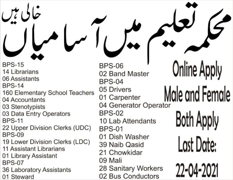 Download the Educator Jobs Advertisement 2021