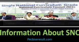 Single National Curriculum Pakistan 2021 PSF