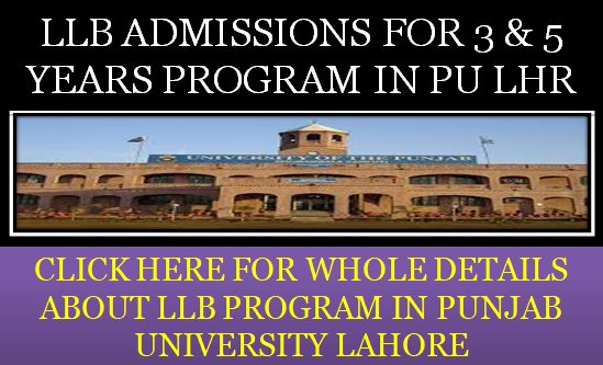 LAW ADMISSION IN PU LAHORE 2021
