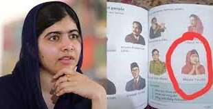 Malala's Photo in 7 text book