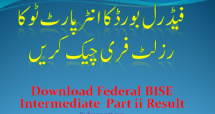 Intermediate FBISE Part Two Result 2021