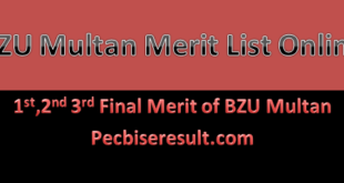 BZU Last Merit List