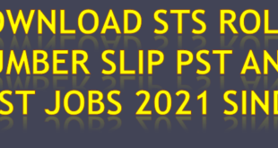 STS Roll No Slips 2021 Online Here