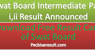 Part one & Two Swat Board Result 2021 Announced